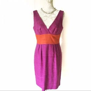 Trina Turk // Purple, Orange Color Block Dress 6